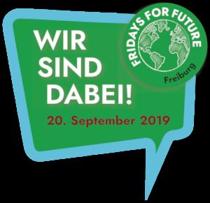 Wir sind dabei! Klimastreik am 20.9.2019